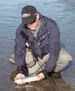 Pacific Angler student with a nice cutthroat trout.