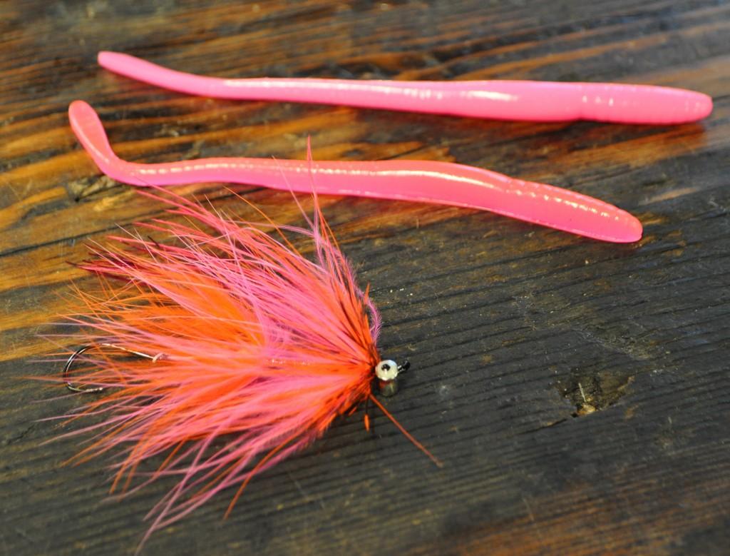 Winter steelhead love pink worms and pink flies