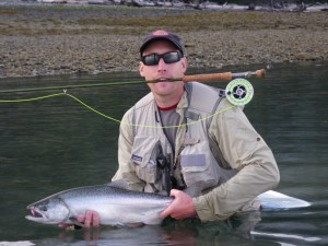 Small chinook on the fly