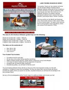 BC Brothers Guided Lake Fishing 2013!