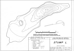 Example of a Bathymetric Map for Stump Lake