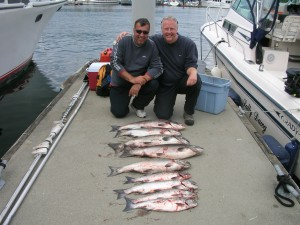 Mark & Ian went 5 for 5 on the Chinook to the net!