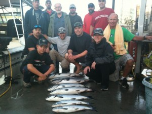 Sept 3rd Charter:  Capt. Eddie with Tyler's stag group and a nice haul!!