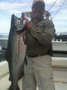 Brent E. with a nice slab taken off T-10!