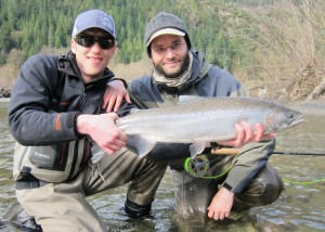 A nice steelhead caught by one of our previous students.
