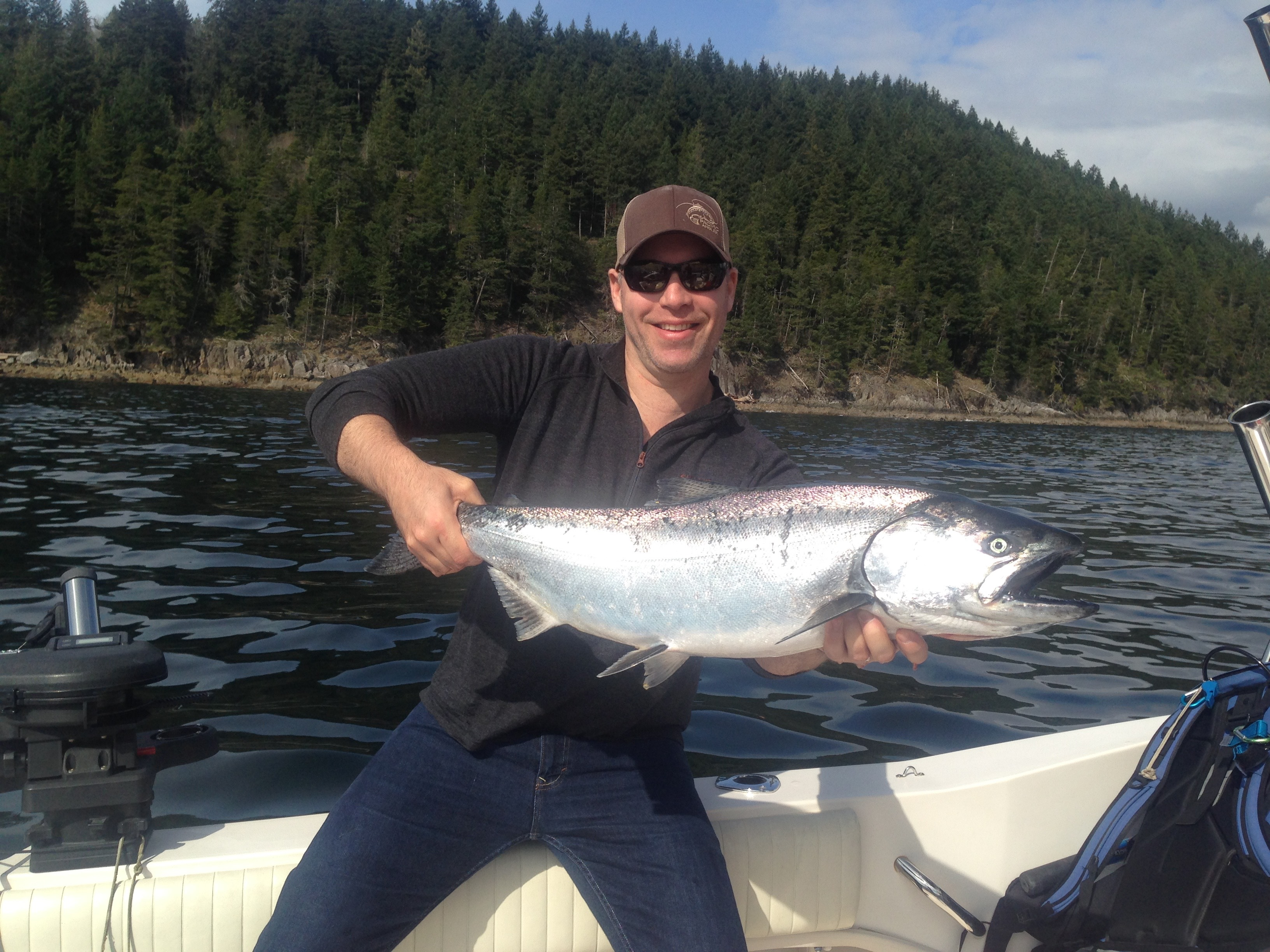 A nice Howe Sound chrome winter chinook landed this week.