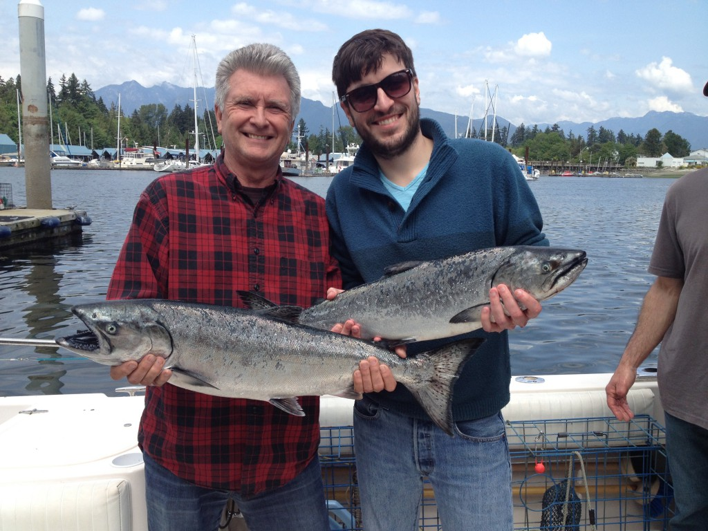 Happy guests with some nice fish landed at the Hump this week.
