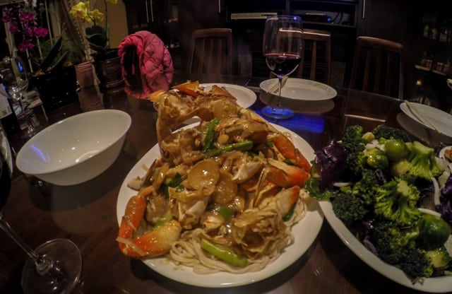 Ginger and scallion crab with noodle – FEAST!