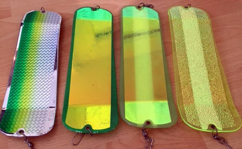 From left to right, Betsy, Green Footloose, Salty Dawg, Green Onion Glow.