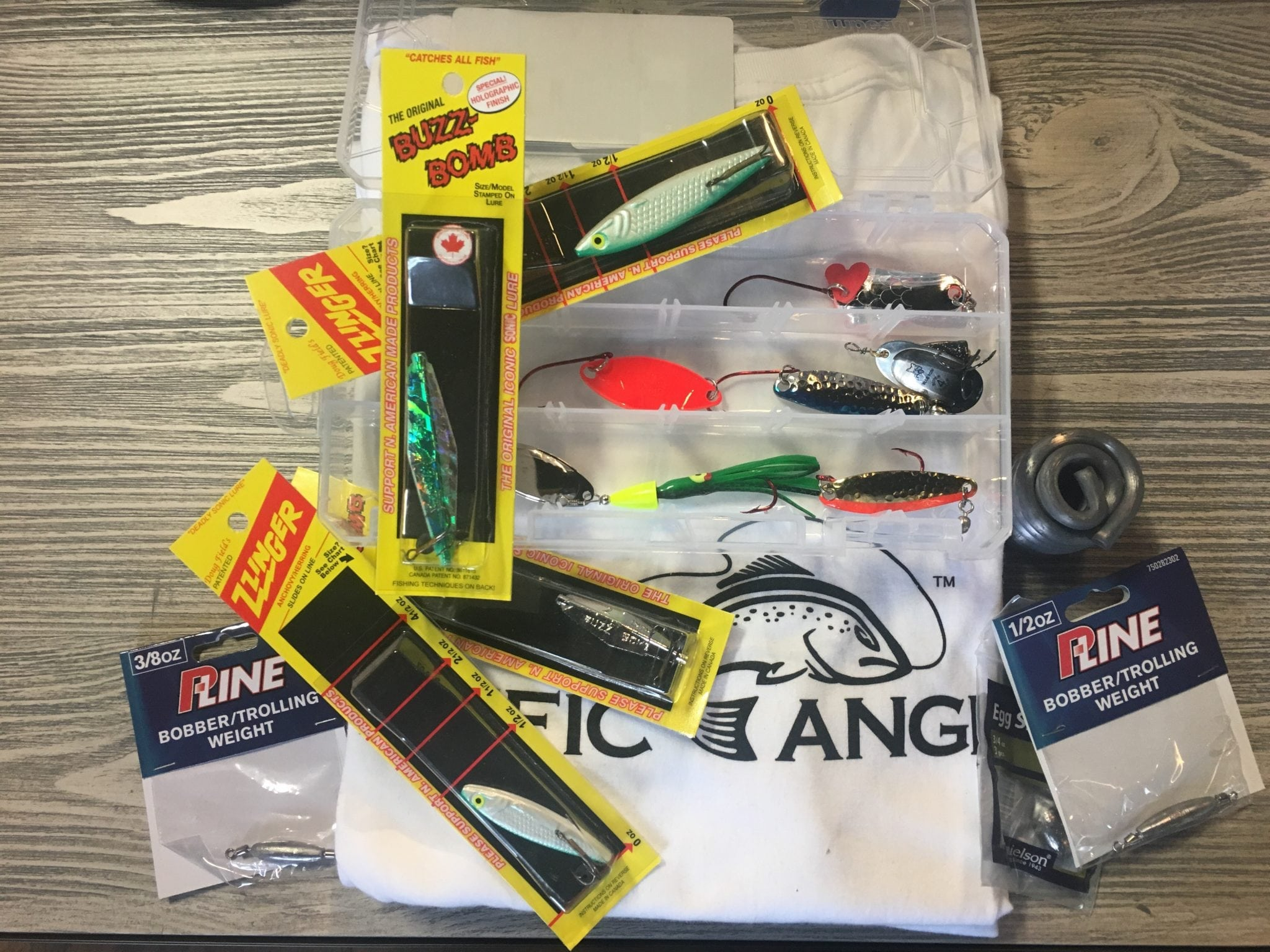 Lures essential for beach coho fishing