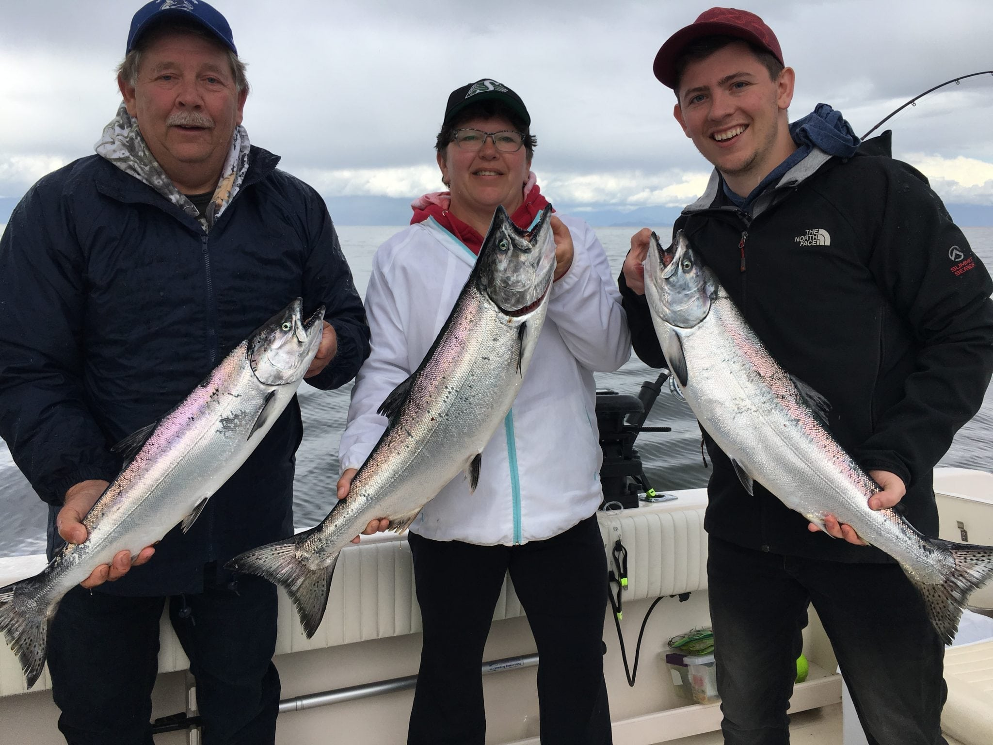 From Vancouver to Thrasher Rock, this is a successful family salmon fishing trip